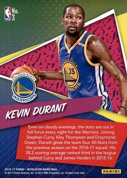 2016-17 Panini Revolution - By the Numbers #3 Kevin Durant Back