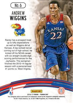 2016-17 Panini Day - Collegiate Cracked Ice #6 Andrew Wiggins Back