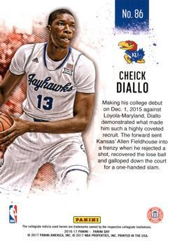 2016-17 Panini Day - Hyperplaid #86 Cheick Diallo Back