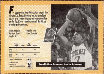 1992-93 Fleer Slam Dunk #NNO Kevin Johnson Back