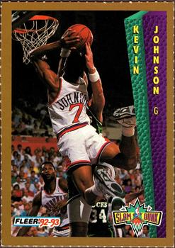 1992-93 Fleer Slam Dunk #NNO Kevin Johnson Front