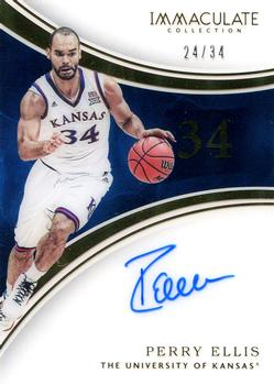 2016-17 Panini Immaculate Collegiate - Numbers Autographs #88 Perry Ellis Front