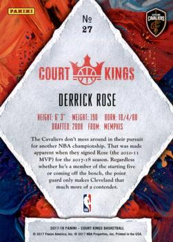 2017-18 Panini Court Kings #27 Derrick Rose Back