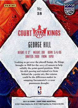 2017-18 Panini Court Kings #38 George Hill Back