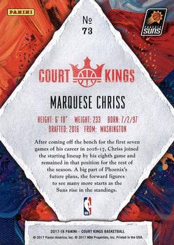 2017-18 Panini Court Kings #73 Marquese Chriss Back