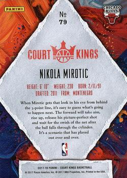2017-18 Panini Court Kings #79 Nikola Mirotic Back
