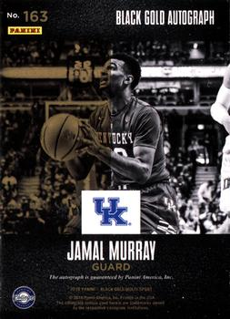 2016-17 Panini Black Gold Collegiate - Black Gold Autographs SN1 #163 Jamal Murray Back