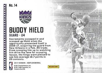 2017-18 Hoops - Lights Camera Action #14 Buddy Hield Back