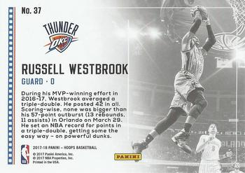 2017-18 Hoops - Lights Camera Action #37 Russell Westbrook Back