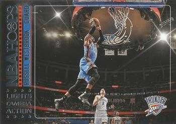 2017-18 Hoops - Lights Camera Action #37 Russell Westbrook Front