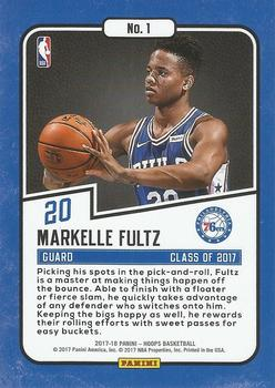 2017-18 Hoops - Class of 2017 #1 Markelle Fultz Back