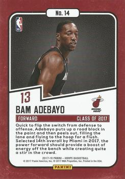 2017-18 Hoops - Class of 2017 #14 Bam Adebayo Back