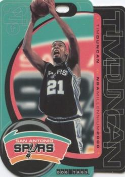 2000 Crown Pro CME Dog Tags #T02 Tim Duncan Front