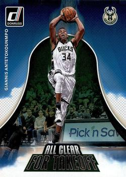 2017-18 Donruss - All Clear for Takeoff #4 Giannis Antetokounmpo Front