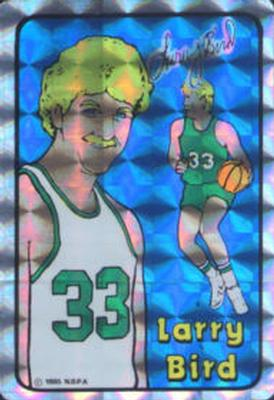 1985 Prism Jewel NBA Stickers #NNO Larry Bird Front