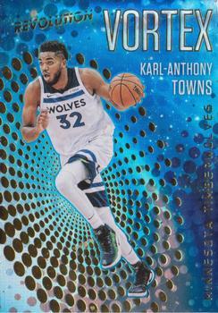 2017-18 Panini Revolution Vortex #34 Karl-Anthony Towns Basketbal Verzamelkaarten, ruilkaarten