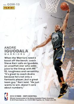 2018-19 Hoops Winter - Get Out The Way #GOW-19 Andre Iguodala Back