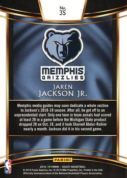 2018-19 Panini Select #35 Jaren Jackson Jr. Back