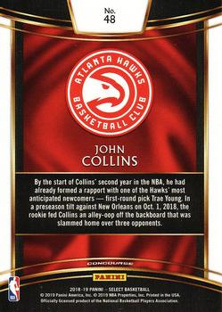 2018-19 Panini Select #48 John Collins Back
