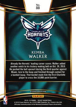 2018-19 Panini Select #88 Kemba Walker Back