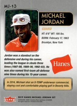 2018-19 Fleer Hanes Michael Jordan 30th Anniversary - Blue Foil #MJ-13 Michael Jordan Back