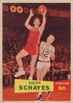 1957-58 Topps #13 Dolph Schayes Front