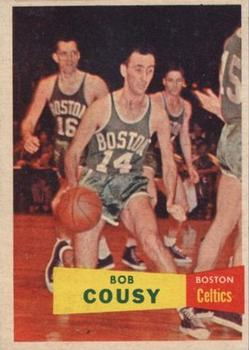 1957-58 Topps #17 Bob Cousy Front