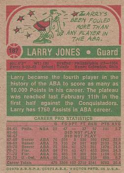 1973-74 Topps #187 Larry Jones Back