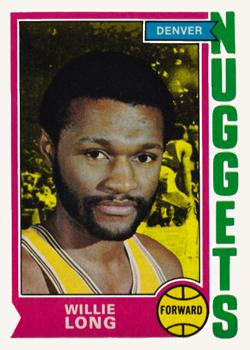 1974-75 Topps #202 Willie Long Front
