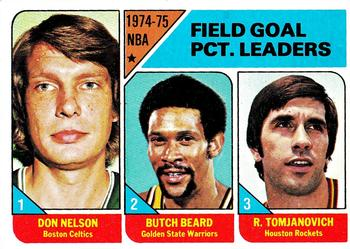 1975-76 Topps #2 League Leaders (Don Nelson, Rudy Tomjanovich, Butch Beard) Front