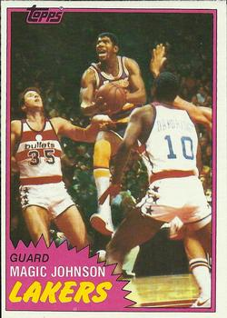 1981-82 Topps #21 Magic Johnson Front