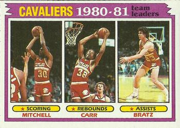1981-82 Topps #47 Mike Mitchell/Kenny Carr/Mike Bratz Front