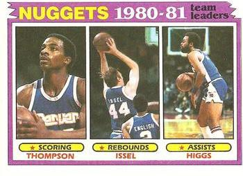 1981-82 Topps #49 David Thompson / Dan Issel / Kenny Higgs Front