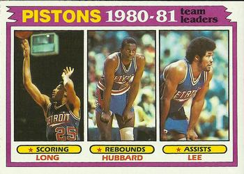 1981-82 Topps #50 John Long/Phil Hubbard/Ron Lee Front