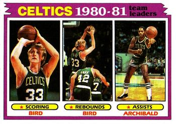 1981-82 Topps #45 Larry Bird / Nate Archibald Front