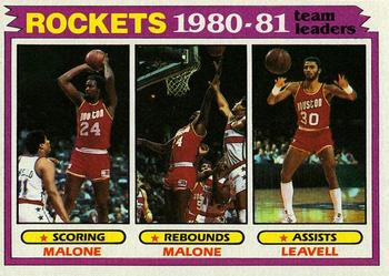 1981-82 Topps #52 Moses Malone/Allen Leavell Front