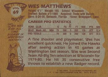 Wes Matthews Gallery Trading Card Database