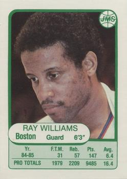 1985-86 JMS #16 Ray Williams Front