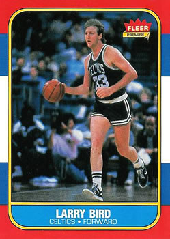 1986-87 Fleer #9 Larry Bird Front