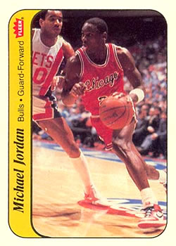 1986-87 Fleer - Stickers #8 Michael Jordan Front