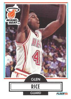1990 91 Fleer 101 Glen Rice The Trading Card Database