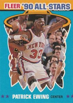 1990-91 Fleer - All-Stars #12 Patrick Ewing Front