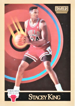 1990-91 SkyBox #42 Stacey King Front