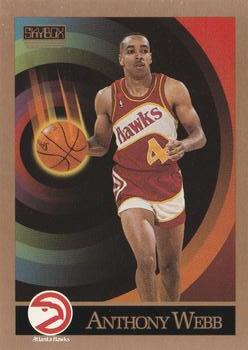 1990-91 SkyBox #10 Anthony Webb Front
