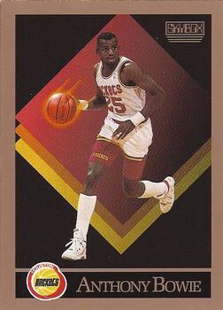 1990-91 SkyBox #105 Anthony Bowie Front