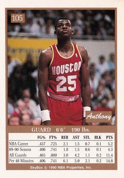 1990-91 SkyBox #105 Anthony Bowie Back