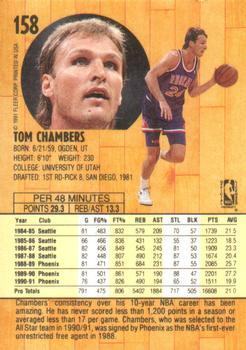 1991 92 Fleer 158 Tom Chambers Back