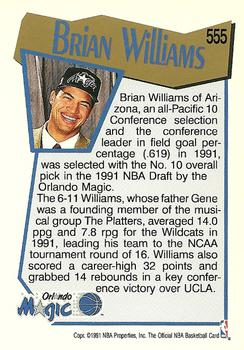 1991-92 Hoops #555 Brian Williams Back