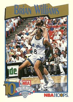 1991-92 Hoops #555 Brian Williams Front