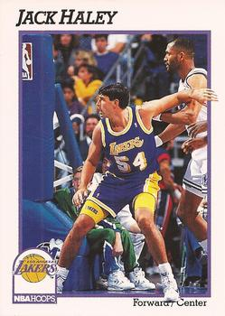 1991-92 Hoops #383 Jack Haley Front